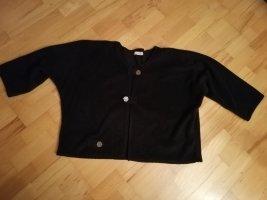 Elegante schwarze Fleece Jacke one size passt für 38 - 42 Zipfelschick