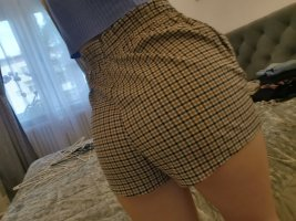 H&M High waist short brons-lichtbruin