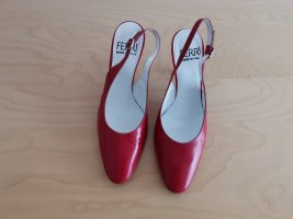 elegante Slingback-Pumps in Rot