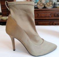 Elegante Stiefletten von H&M in Größe 38 aus Satin, in einem wunderschön schimmernden Goldton