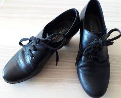 Elegante Tamaris Schnür-Schuhe (Gr. 38, schwarz, kaum getragen)