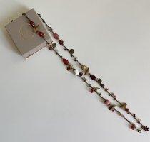Accessoires Collar marrón claro-rosa