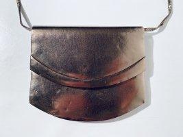 Elegante Vintage-Handtasche aus Leder - metallic - Bronze