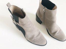 Elegante  Stiefel von ZARA in grau/schwarz mit Absatz.