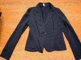 Q/S Blazer corto blu-blu scuro