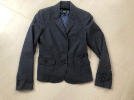 Esprit Blazer de tela de sudadera azul oscuro-gris oscuro tejido mezclado
