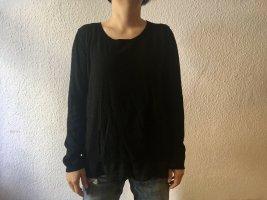 Eleganter Comma Pullover, schwarz, Gr. 40