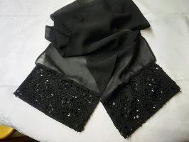 Eleganter Damenschal mit Pailletten- und Perlchen-Applikation