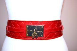 Elisabetta Franchi Cinturón pélvico rojo ladrillo