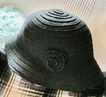 0039 Italy Wollen hoed zwart
