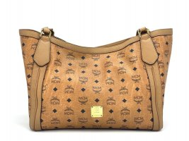 Eleganter MCM Shopper Bag Cognac Henkeltasche Schultertasche Large Tasche