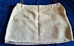 Amisu Minifalda blanco puro-color oro