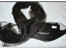 Sciarpa di seta nero