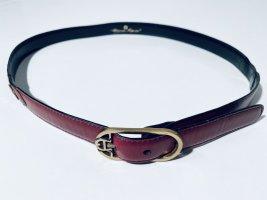 Etienne Aigner Cinturón de cuero color oro-carmín Cuero