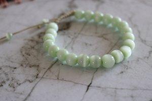 Elegantes Armband, mintfarben, Perlenform