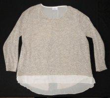 Elegantes Oberteil Pulli Pullover von Gina Benotti Gr. XL / 48 / 50 mit Tüll TOP Zustand Sweatshirt