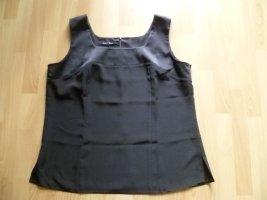 Elegantes Top von Anna von Braun Gr.44 schwarz matter Glanz wie neu