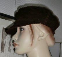 Visor Cap brown-dark brown suede