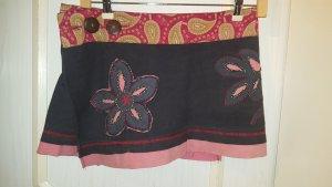 Handmade Wraparound Skirt black-red