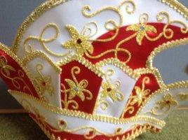 Sombrero de copa multicolor fibra textil