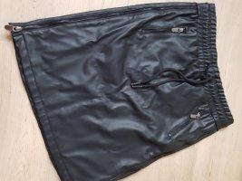 Elias Rumelis Faux Leather Skirt black