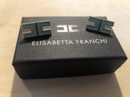 Elisabetta Franchi Clip d'oreille bleu clair