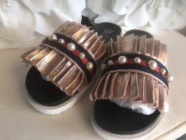 Ella Cruz Damen Hausschuhe Pantoletten  Bling Perlen Latschen 41