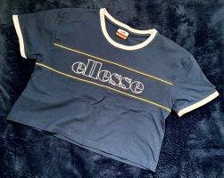 Ellesse Camicia cropped blu scuro-arancione chiaro Cotone