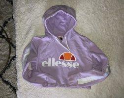 2 Elles Capuchon sweater paars-wit