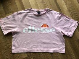 ELLESSE°Oversize Cropped Shirt Kurzarm rosé°Gr. 38°neuwertig