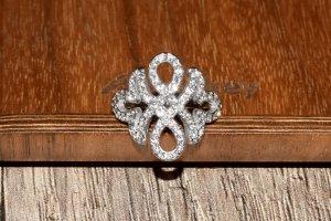 Elli PREMIUM Unendlichkeit Ring mit Swarovski Kristalle 925 Silber