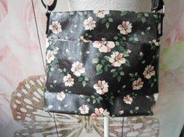 EM-EL Tasche schwarz rosa Blumen sehr guter Zustand Modell Sophie