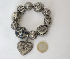 Avon Pearl Bracelet silver-colored-dark blue