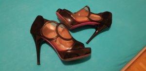 Emanuel Ungaro schuhe high heels luxus 38/5 couture schwarz