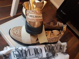 Emilio Pucci High Top Sneaker black-gold-colored