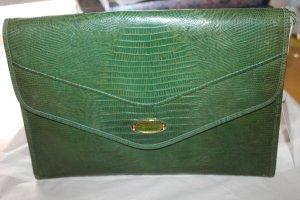 Emilio Pucci Handtasche aus grünem Schlangenleder