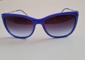 Emporio Armani Occhiale da sole spigoloso blu-blu scuro
