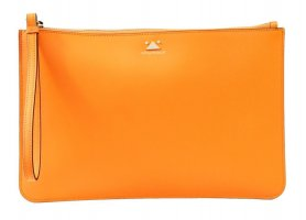 Emporio Armani Clutch in Orange aus Leder