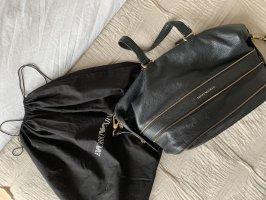Emporio Armani Handtasche schwarz gold Leder mit Staubbeutel