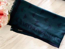 Emporio Armani Gebreide sjaal petrol-blauw