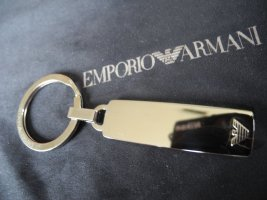 Armani Key Chain silver-colored stainless steel