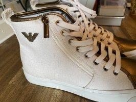Emporio Armani Lace-Up Sneaker white-gold-colored