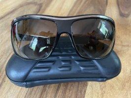 Emporio Armani Kwadratowe okulary przeciwsłoneczne czarny