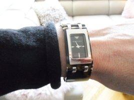 Emporio Armani Uhr, Hornoptik, silber/braun, Uhr läuft einwandfrei