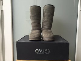 Emu Fur Boots multicolored leather