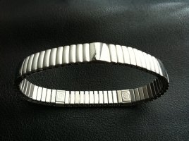 ENERGETIX Flexband Magnet Wellness Armband silber farben
