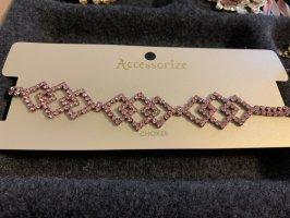 Enganliegende Halskette - pink