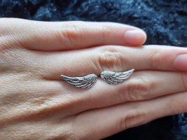 Boucles d'oreilles en argent argenté soie