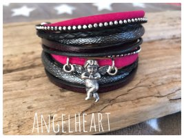 Bracelet en cuir multicolore cuir