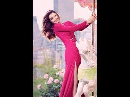 Escada Robe de soirée rose soie